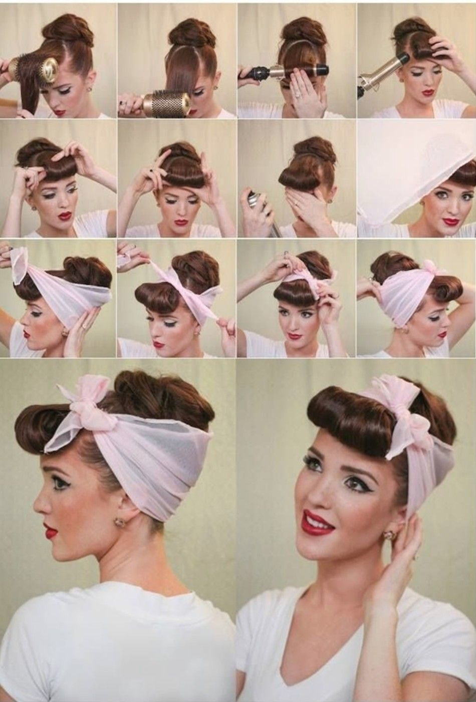 Pin by victoria on victory rolls pinterest hair styles hair and