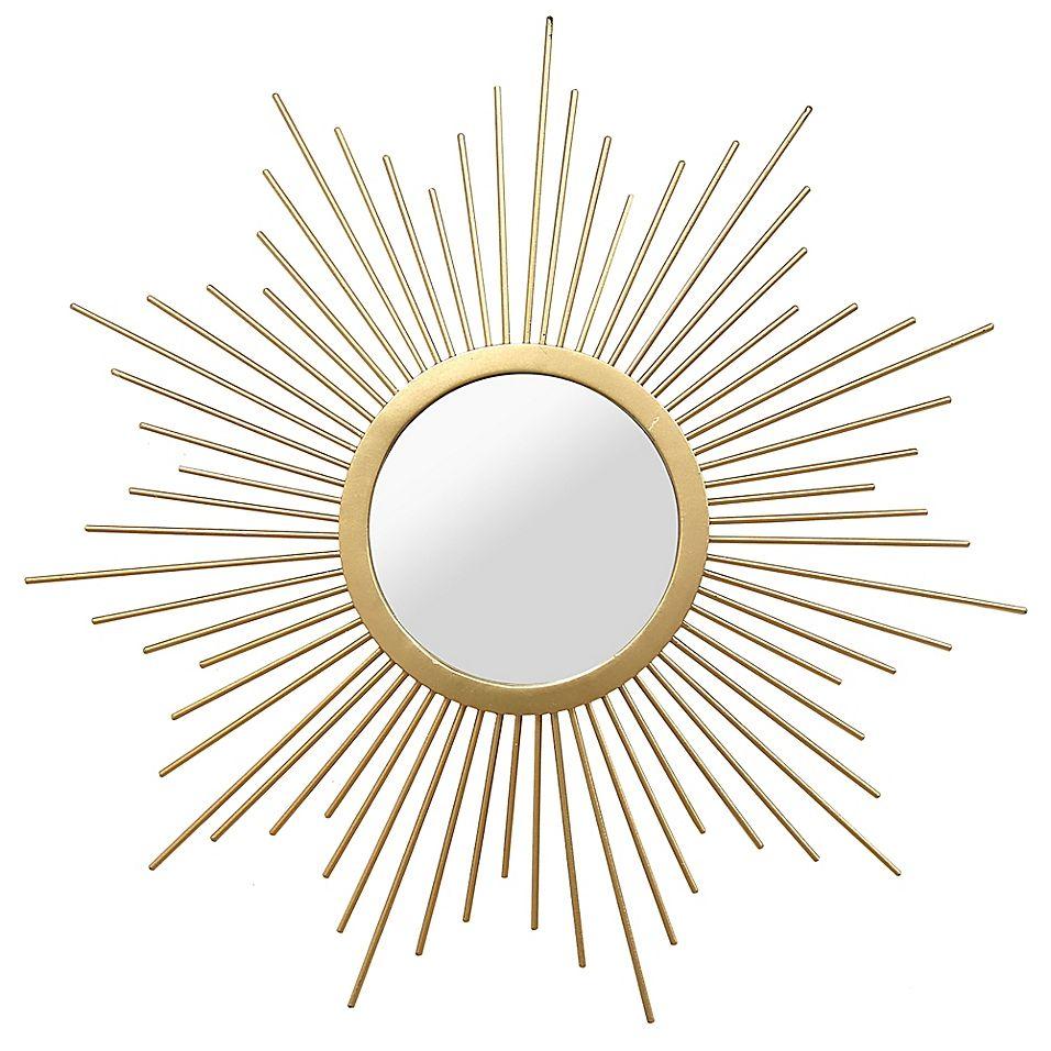 Stratton Home Decor 20 Inch Round Bella Wall Mirror In Gold In 2020 Stratton Home Decor Mirror Wall Mirror Crafts