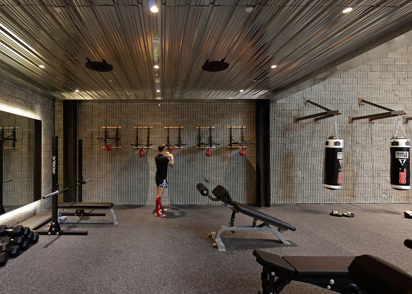 Lab design studio creates kuwait boxing gym interiors
