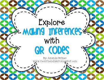 """Looking for something to help your students learn more about """"making inferences""""? This activity includes 2 separate QR code activities that will have students practicing the skill of making an inference. Activity #1 is an independent practice printable."""