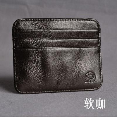 Mens Wallet Business Card Holder Multi-card-bit ID Cardholder Leather Cow Pickup