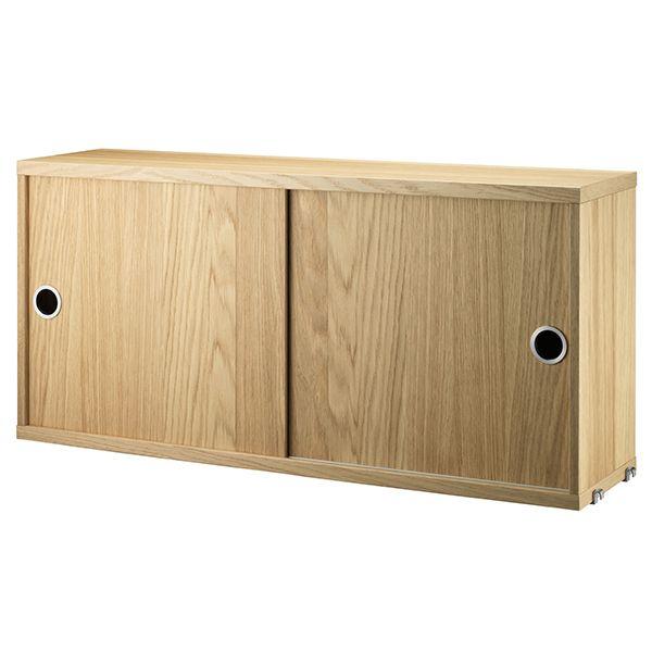 Photo of String Furniture String cabinet, 78 x 20 cm, oak