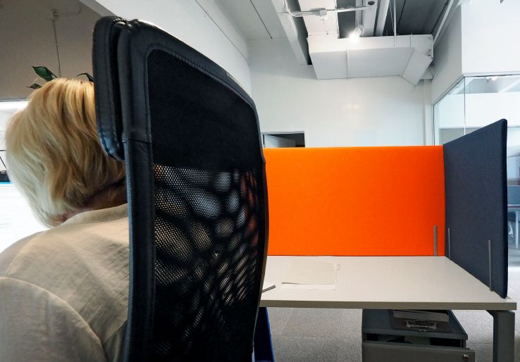 peaceful creative office space. Peaceful Creative Office Space. Fine Sound Absorbing Panels Around An Space Allows For O