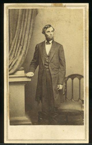 Original Civil War President Abraham Lincoln Carte De Visite CDV 1861 Brady Pose In Collectibles Militaria 65 Period Items