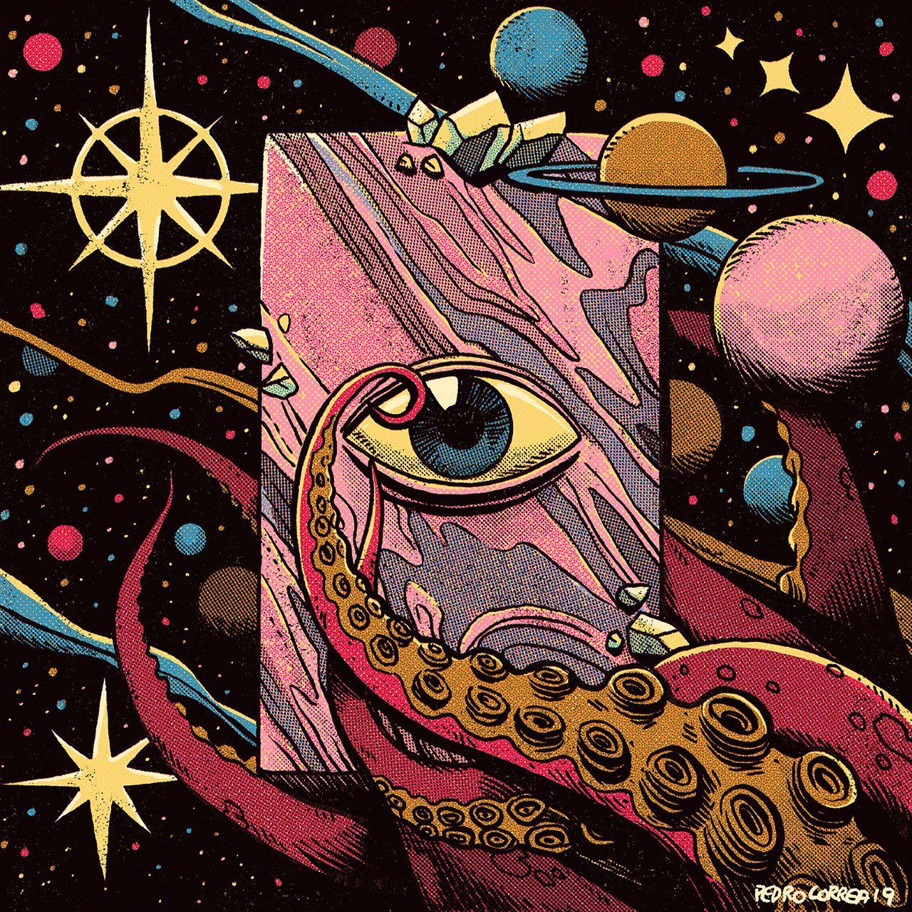 Pedro Correa Illustrator - Cosmic Eyeballs