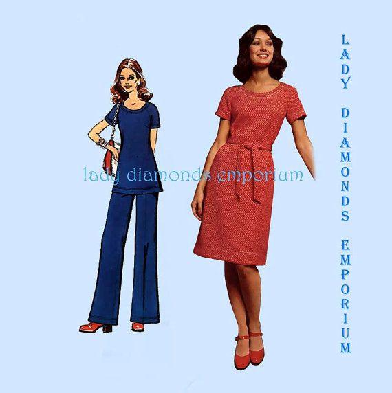 Simplicity 5556 Womens Jiffy Knit Boho Dress Tunic Pants Size 18