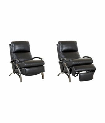 Anton Modern Leather Recliner With Brushed Platinum Arms And European Styling Club Furn Recliner Chair Recliner Chair
