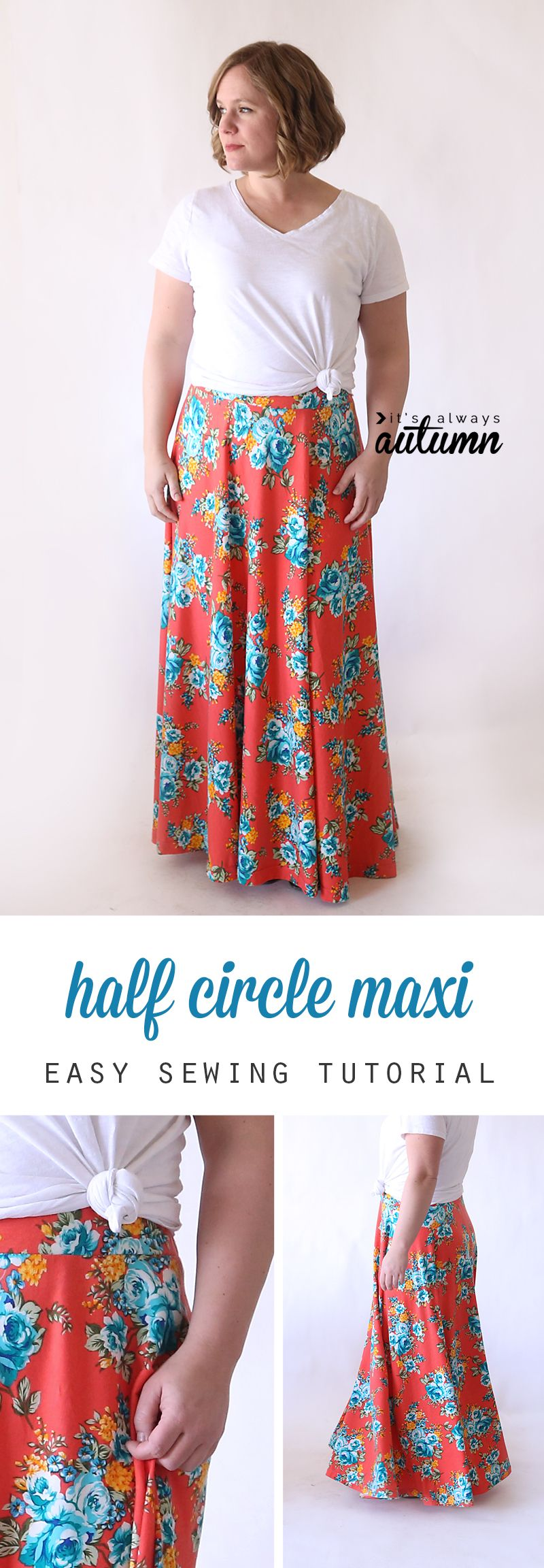 Half circle maxi skirt diy maxi skirt tutorials and easy how to make a full flattering diy maxi skirt without a pattern easy sewing jeuxipadfo Image collections