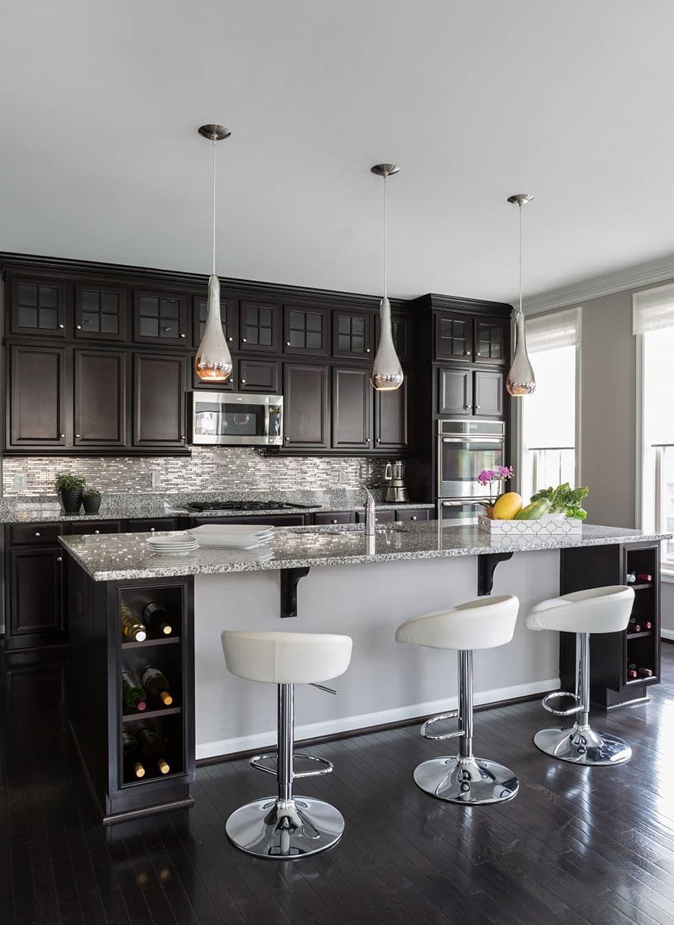 Modern Kitchen Photos Viva Vogue Kitchen Homify Dark Kitchen Cabinets Dark Countertops Refacing Kitchen Cabinets