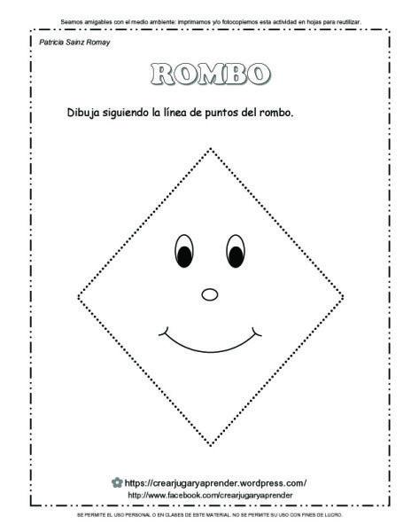 Figuras Geometricas Rombo Para Colorear