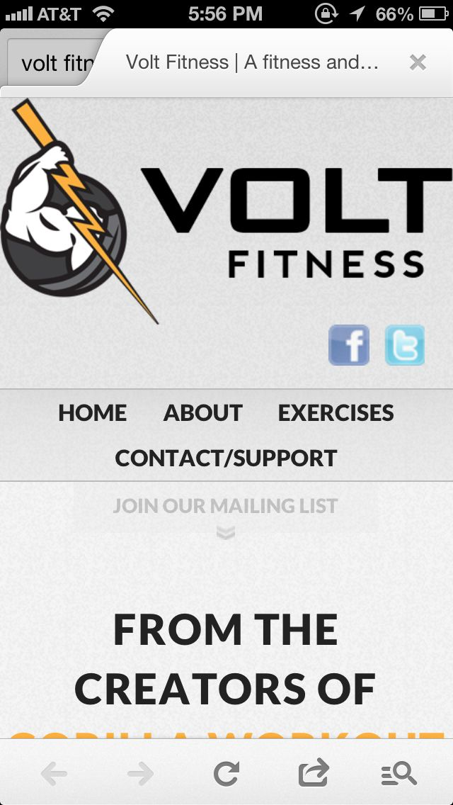The Volt Fitness app for iPhone/iPad. One of the best
