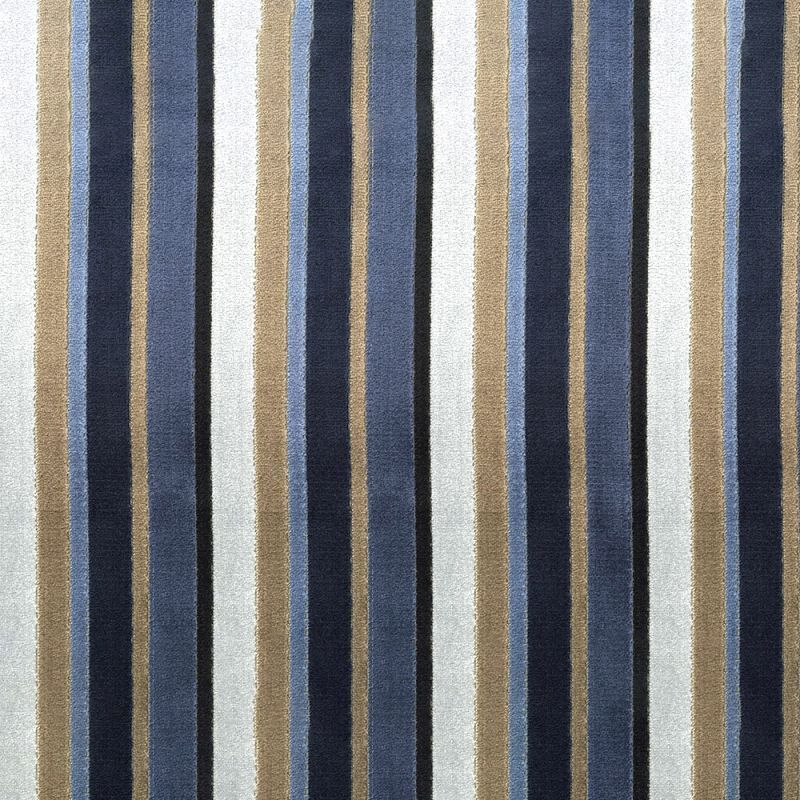 SEATTLE HARBOR Stripe Velvet Upholstery Fabric - DecorativeFabricsDirect.com