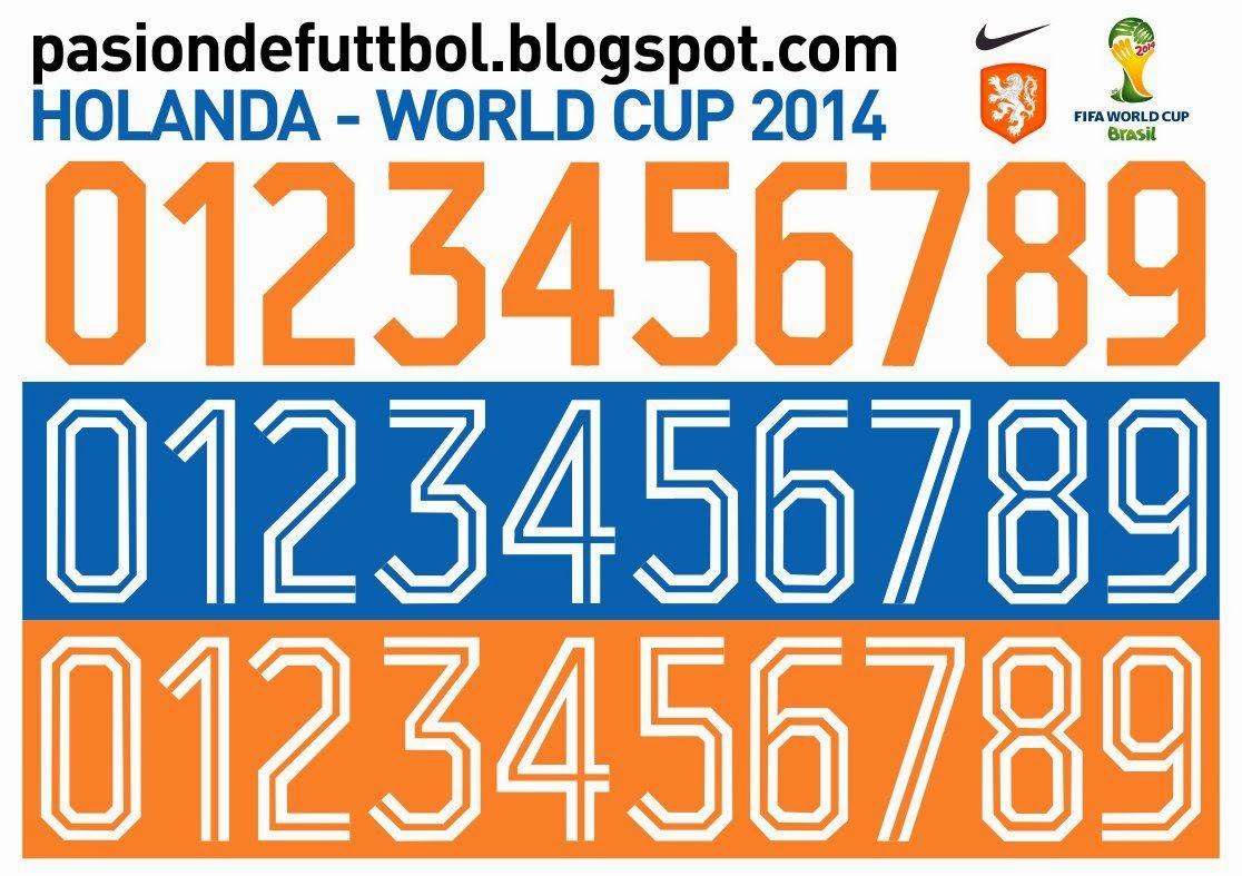 Diseños Vectores Y Templates Para Camisetas De Futbol Holanda Netherlands Numeracion Vector Camisetas De Fútbol Futbol Vector Camisetas