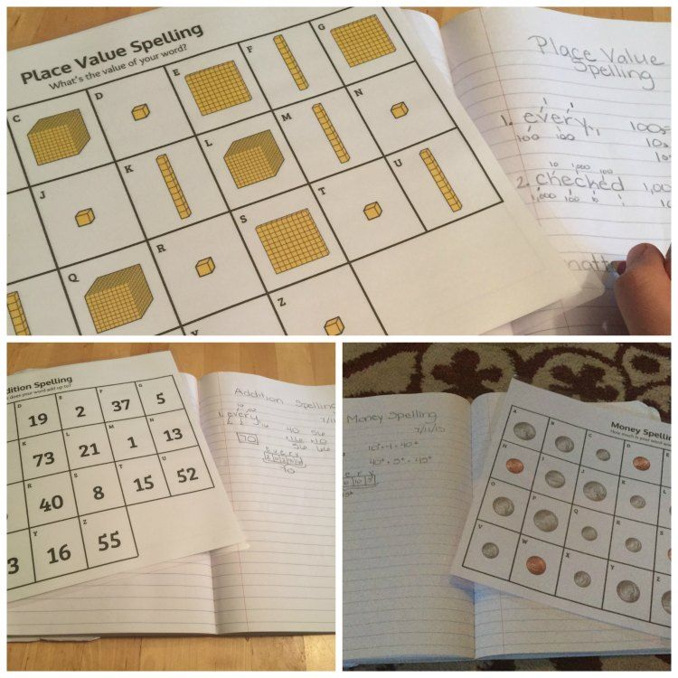 Spelling Math Worksheets That Allow Kids To Practice Place Value