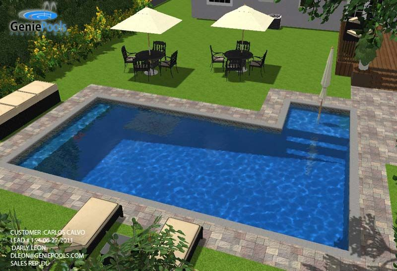rectangular swimming pool designs - Google Search | Grassy Island ...