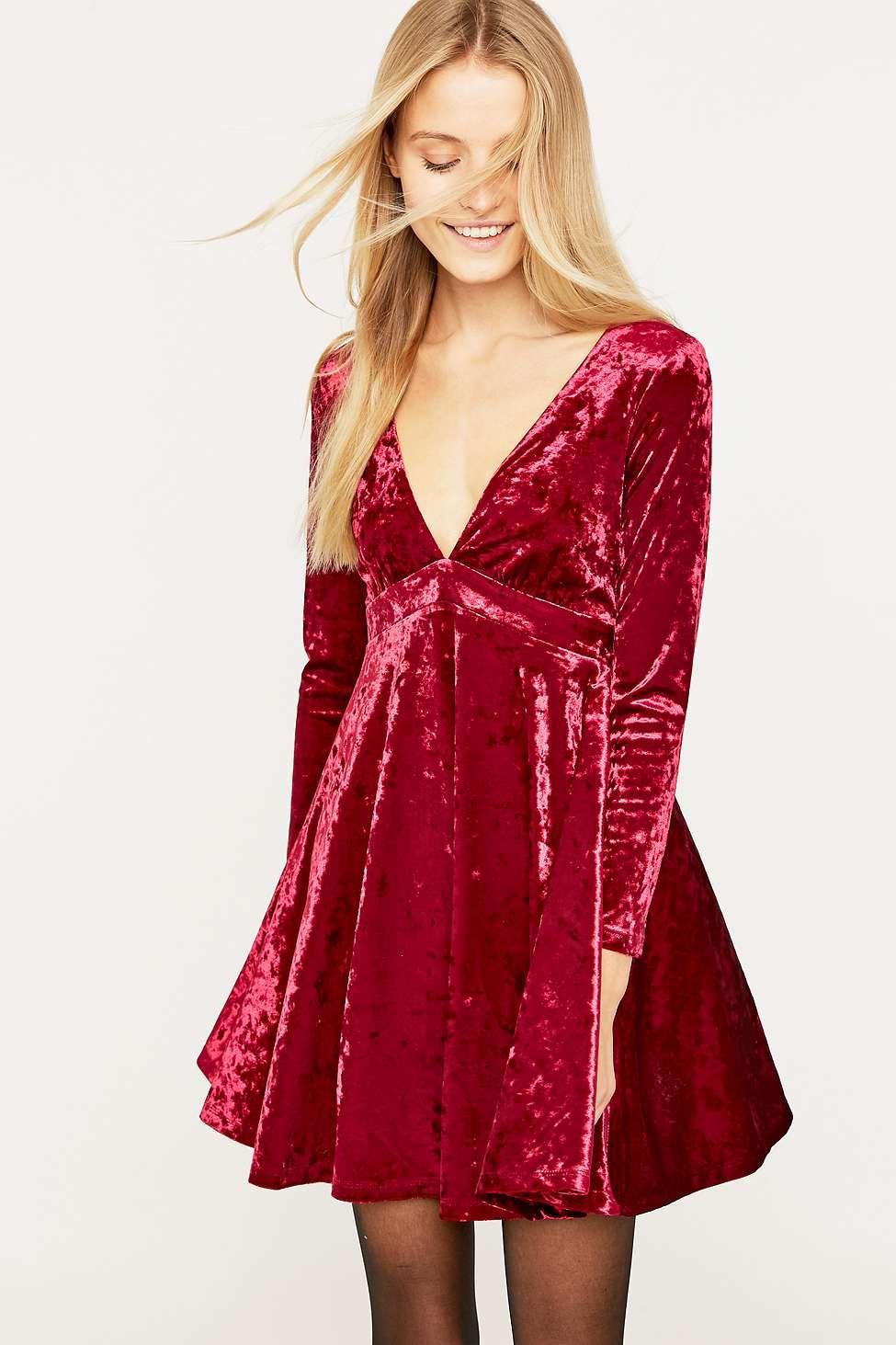 5130265641079 061 B 975 1463 Dresses Babydoll Dress Mini Velvet Dress