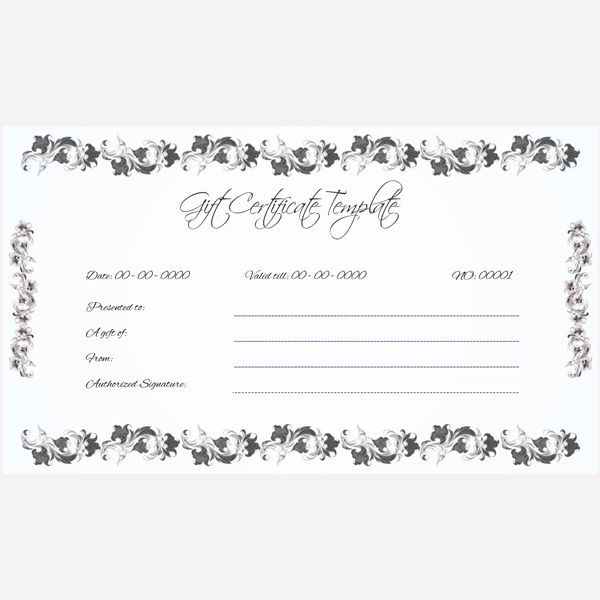 Blank Gift Certificate #giftcard #giftcertificate  Ms Word Gift Certificate Template