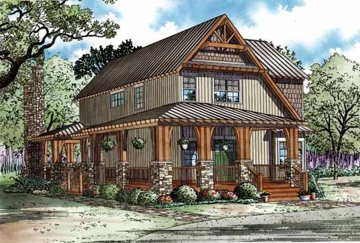 Style House Plans - 1705 Square Foot Home , 2 Story, 3 Bedroom and 2 Bath, 0 Garage Stalls by Monster House Plans - Plan 12-1168