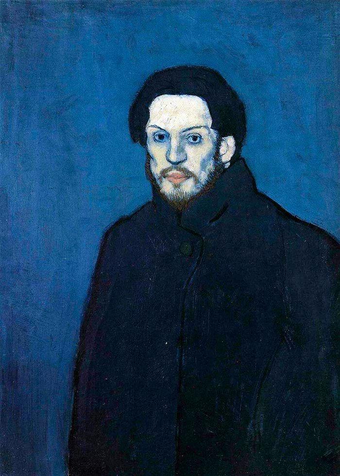 Pablo Picasso Self Portrait Blue Period