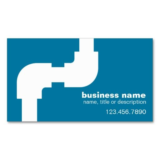 Plumbing Business Card This Great Design Is Available For Customization All Text