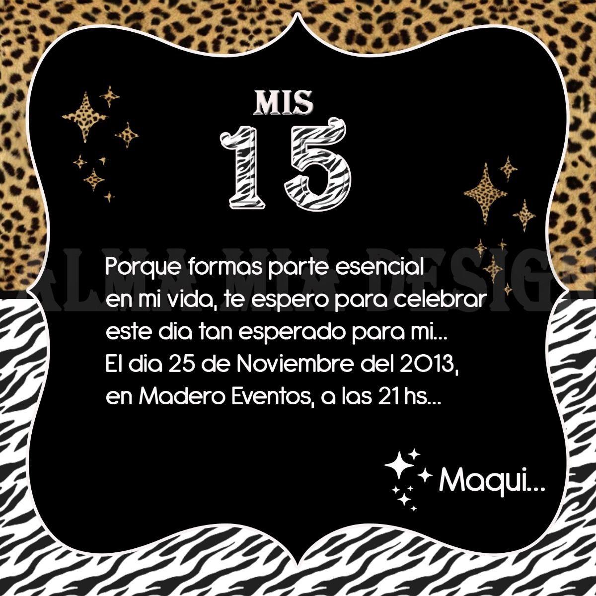 Tarjetas Invitacion 15 Años Modernas 13 00 En