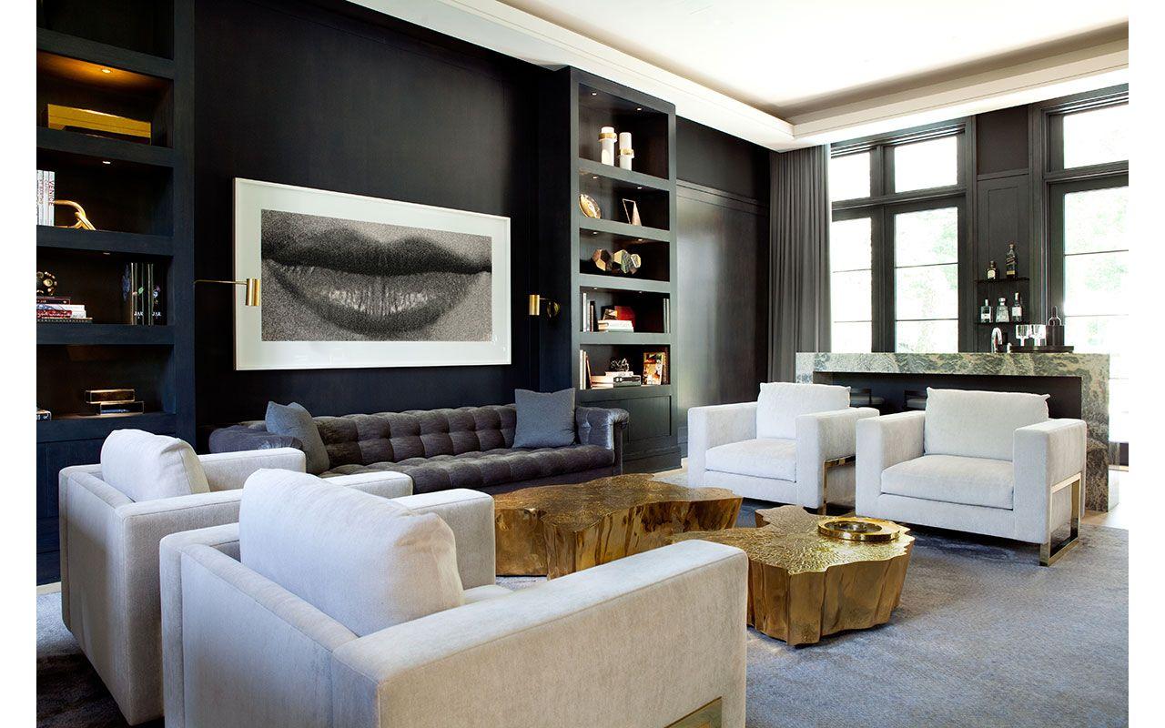Moody Modern Living Room Jessica Gersten Interiors Tenafly Modern Classy Modern Design Of Living Room Decorating Design