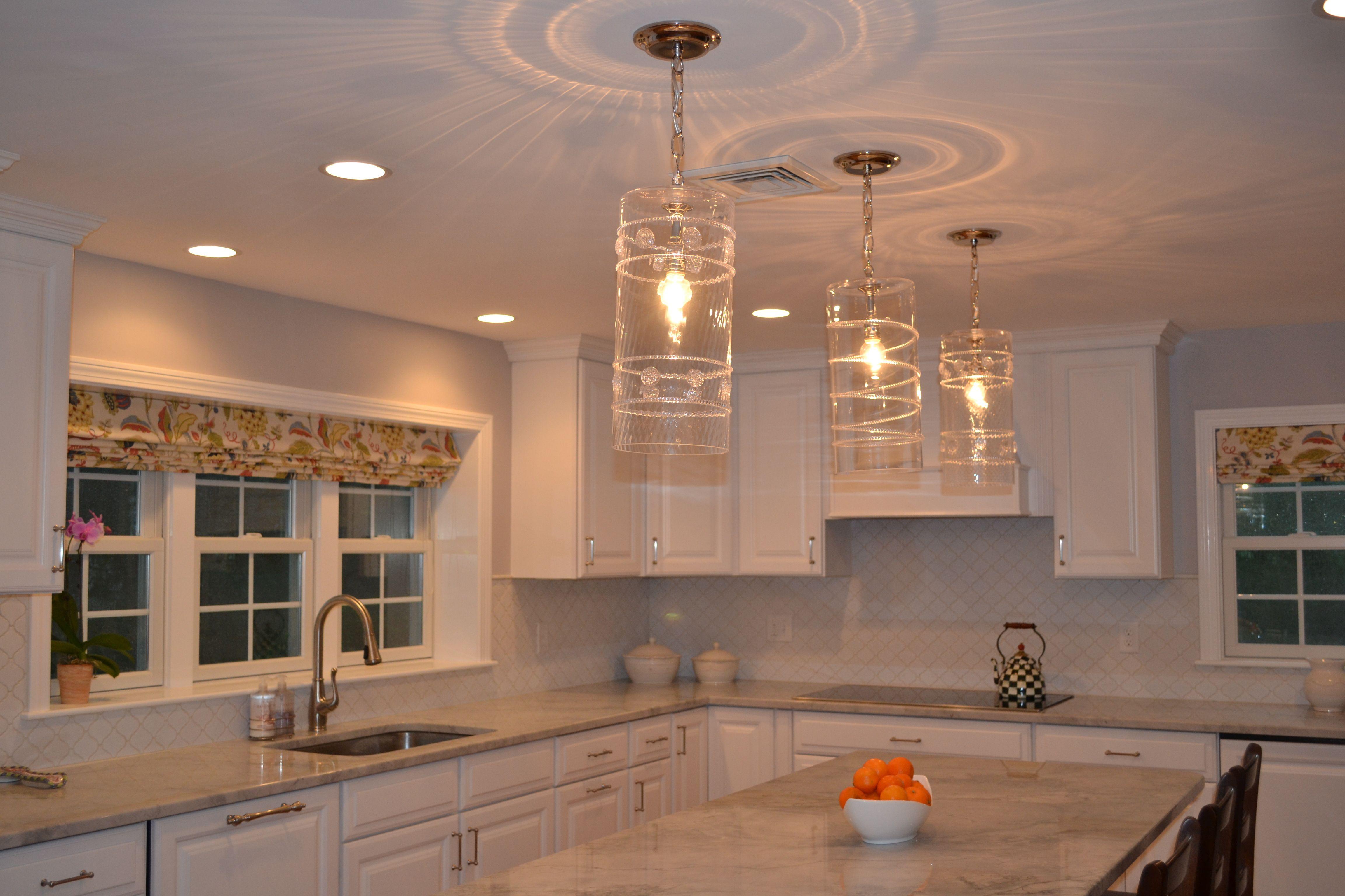 Juliska Pendant Lights Over Island Kitchen Lighting Kitchen