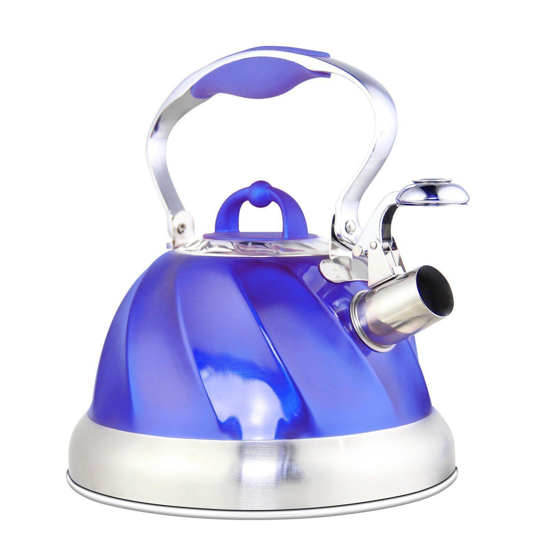 riwendell stainless steel whistling tea kettle 2 6 quart stovetop