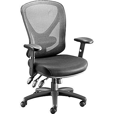 Carder Mesh Back Fabric Computer And Desk Chair Black 24115 Cc