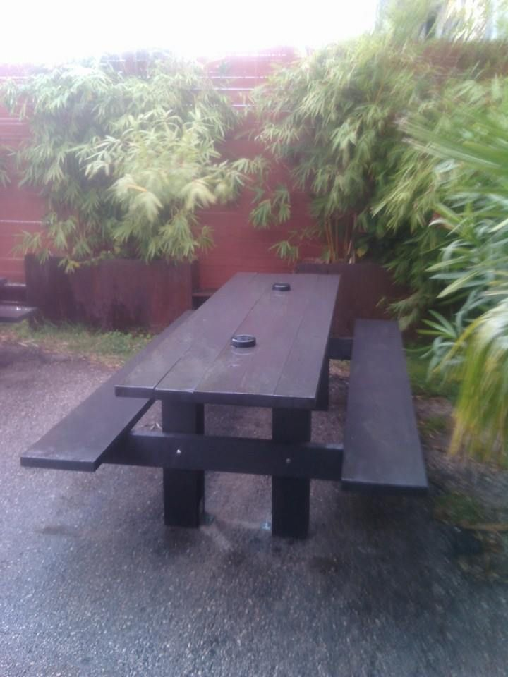 Patio Furniture Round Rock Tx.Modern Picnic Table For Porch Patio Or Grass These Tables Are