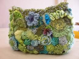 crochet handbag - Free form beauty