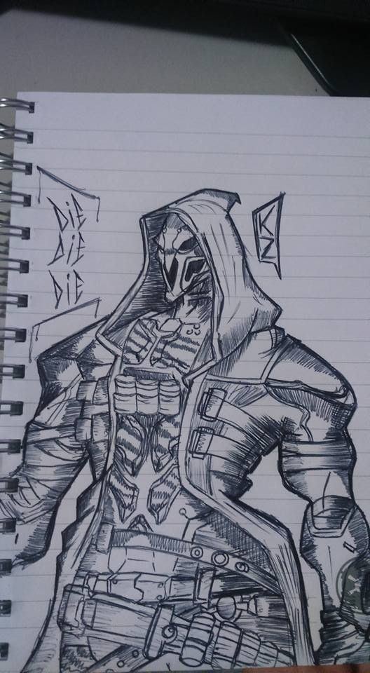 Fast Sketch Reaper From Overwatch My Insane Brain In