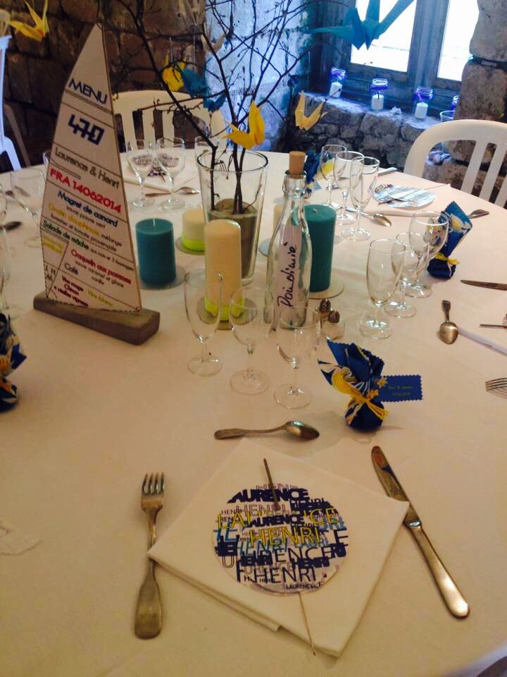 Deco table mariage thème la mer/ les îles
