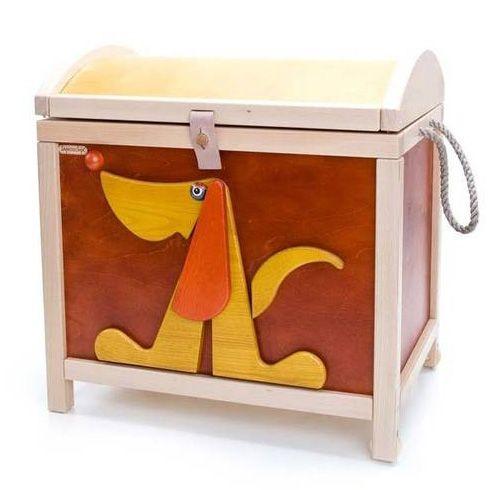 Toy chest. Ecco uno splendido baule porta giochi in legno massello a ...