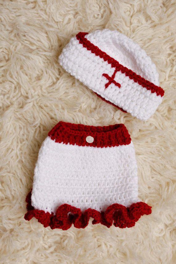 Crochet Nurse baby girl outfit newborn only by MeyKillianCrochet ...