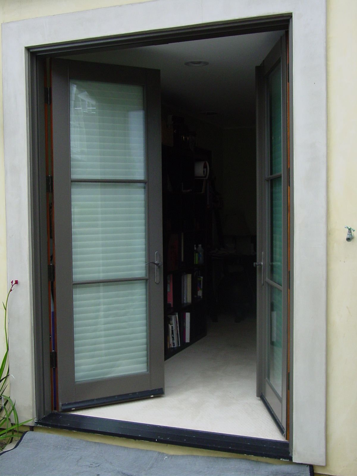 How Big Is 36x84 For A Screen Door : Large french door with phantom screen google search