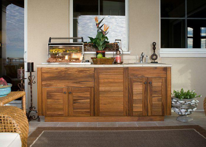 außenküche selber bauen teakholz küchenschränke Küche Möbel - kücheninsel selbst gebaut