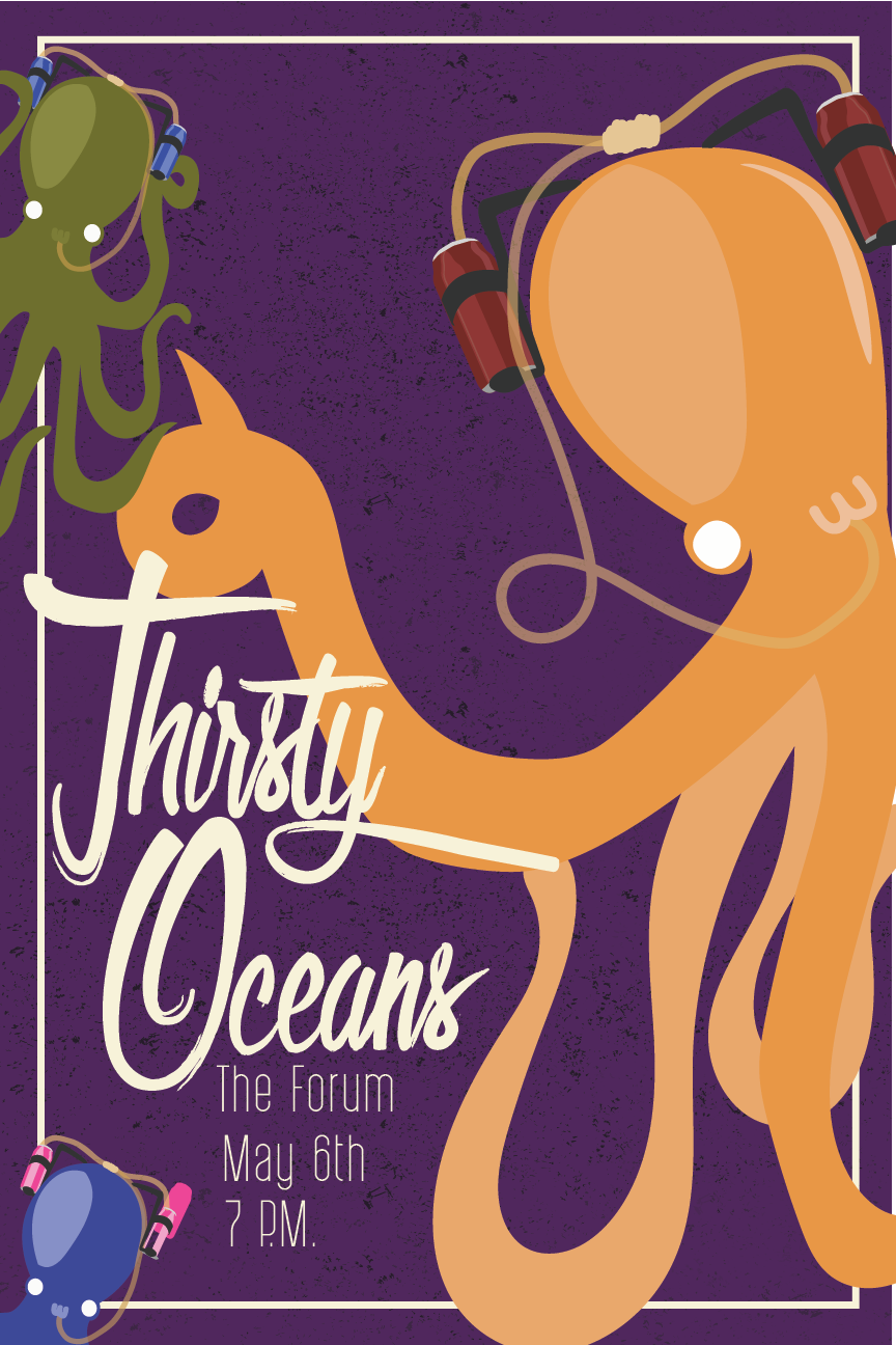 Thirsty Oceans Vector Paths by student Virginia Flores