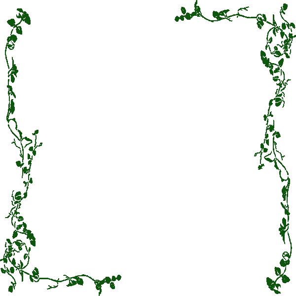 Ivy Vine Clip Art Border Green Elegant