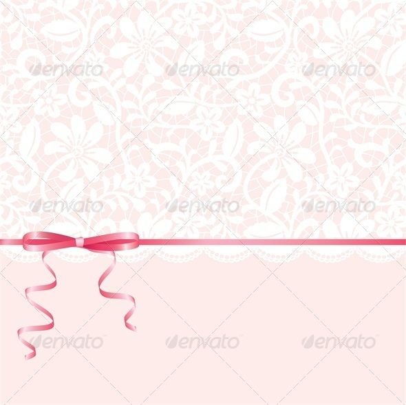 Vector template for wedding invitation or greeting card pinterest vector template for wedding invitation or greeting card with lace background and pink ribbon vector illustration fully editable vector objects separated stopboris Gallery