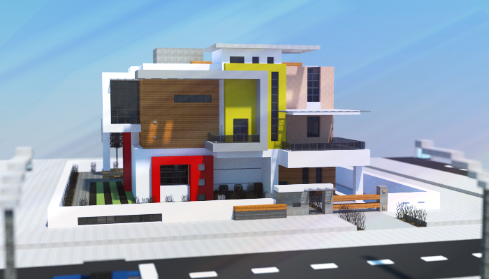 Modern House I Made In Minecraft Plan Maison Moderne Batiment Minecraft Idees Minecraft