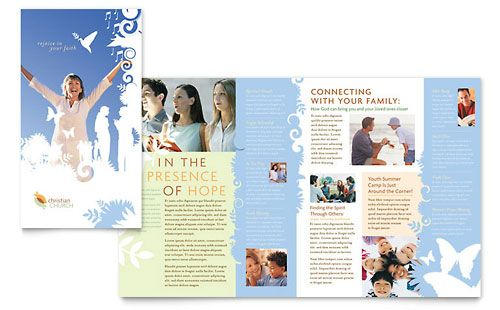christian church brochure template design art graphic design