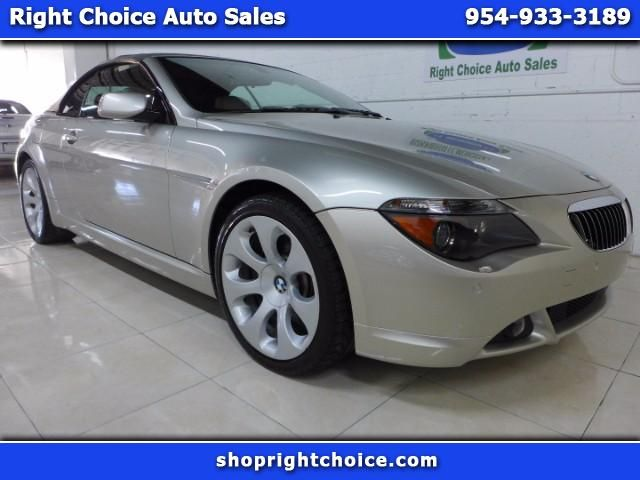 Used 2006 Bmw 6 Series 650i Convertible For Sale In Pompano Beach