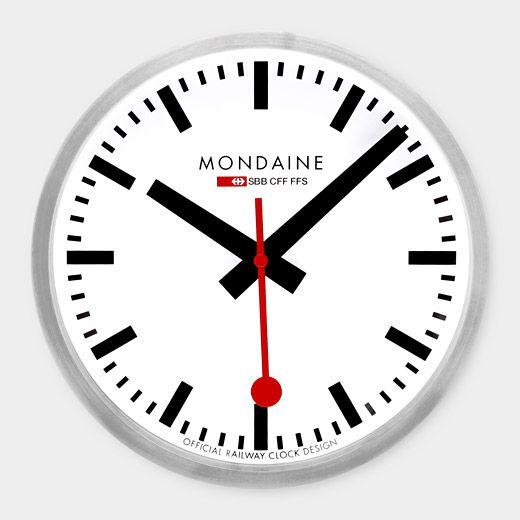 Small Swiss Railway Wall Clock