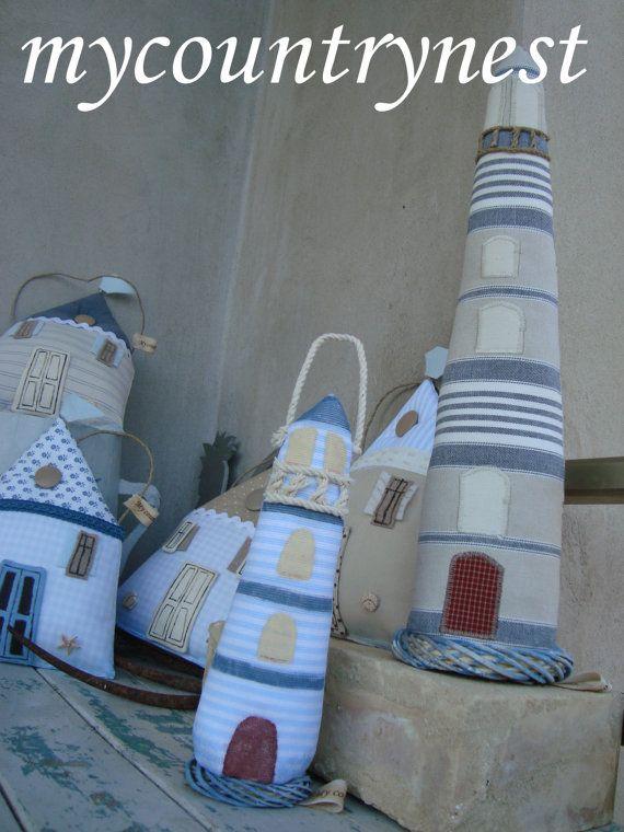 Lighthouse Pattern Fabric Lighthouse Pattern Lighthouse Pdf Pattern Lighthouse Sewing Pattern Seaside Pattern Beach Style Pattern Manualidades En Tela Artesanía Náutica Patrones