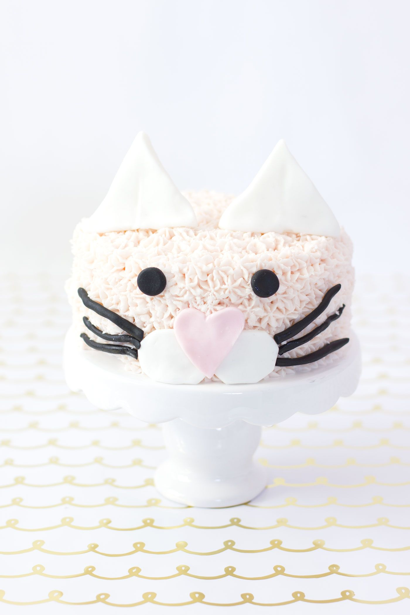 EASY PINK KITTY CAT PARTY CAKE