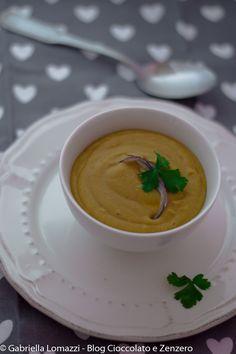 Crema di lenticchie rosse e curcuma.