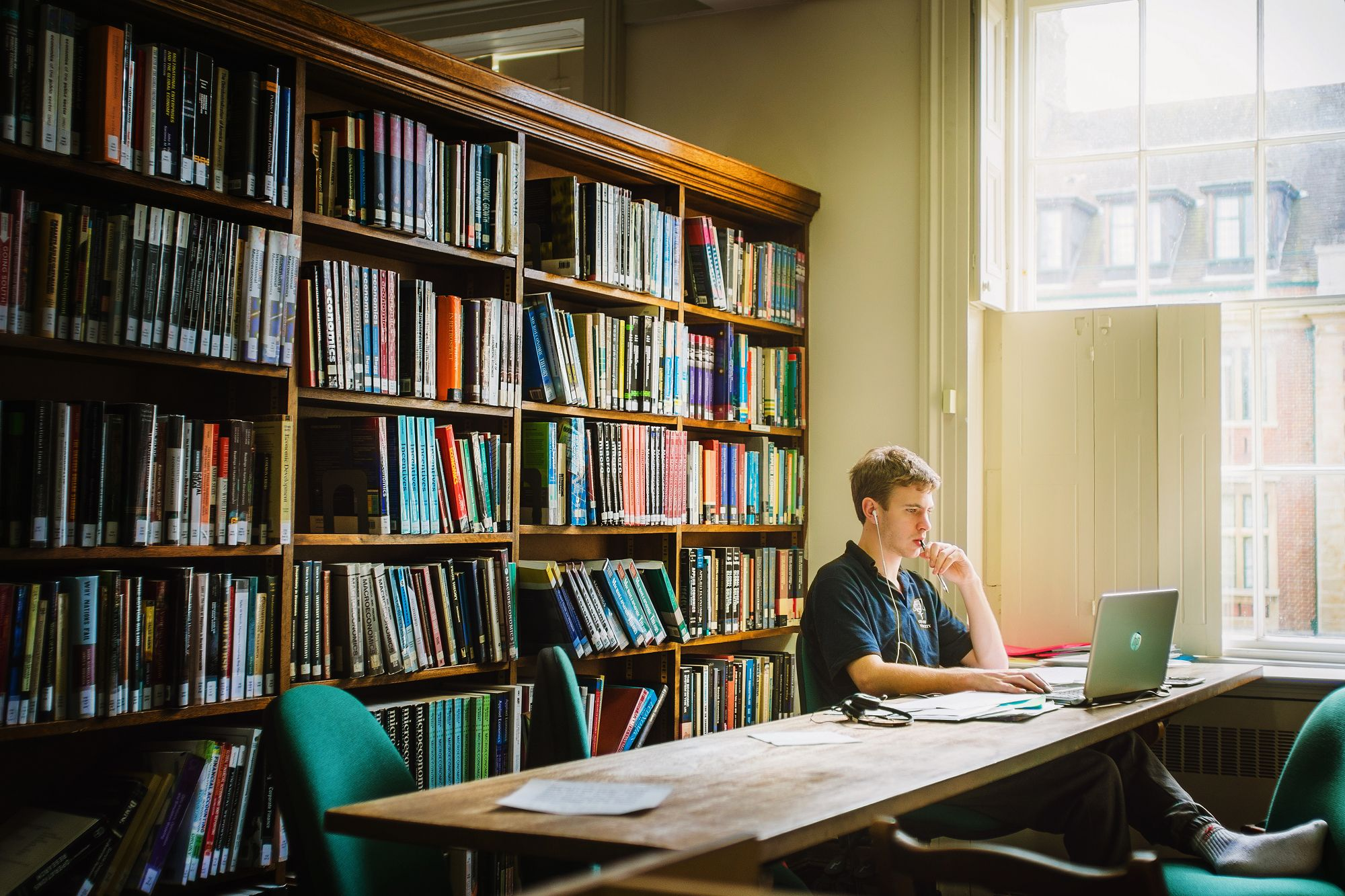 SHORTLIST 2015: ACADEMIC | St Peter's Library, by Edgar Y Mao (DPhil English, Lady Margaret Hall)