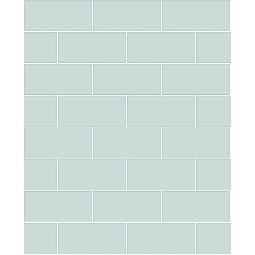 Brewster 8 in. x 10 in. Galley Light Blue Subway Tile ...