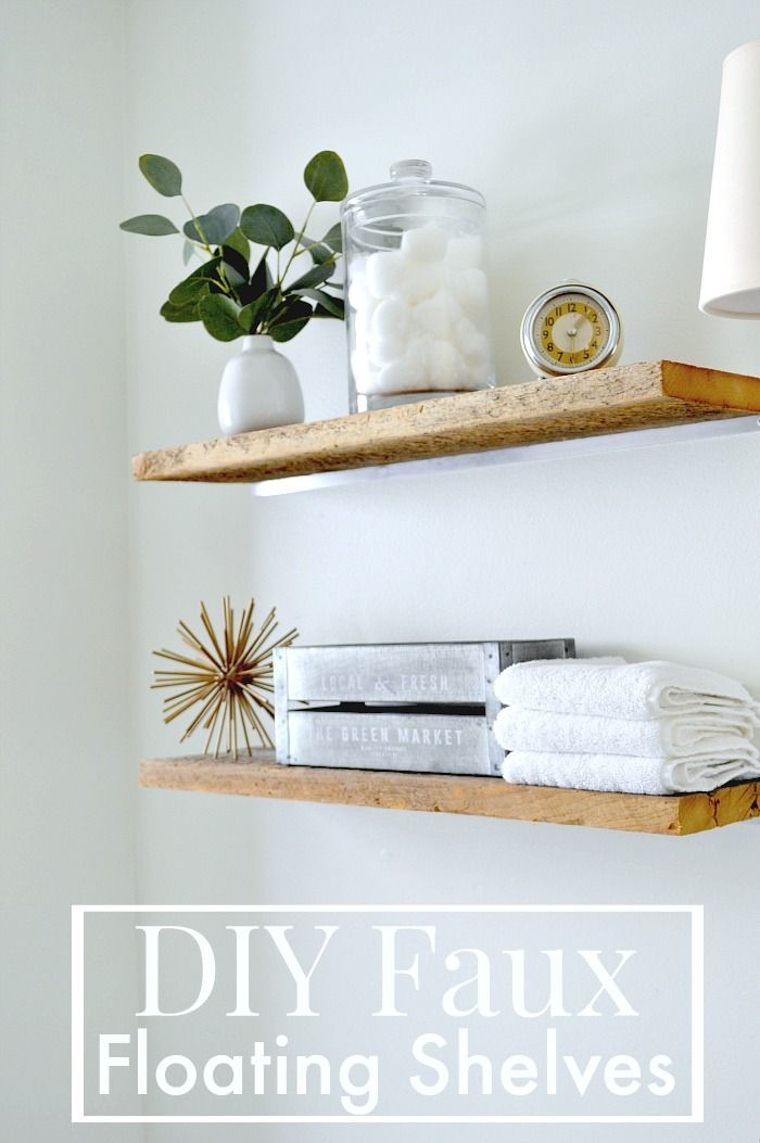 DIY Faux Floating Shelves Small